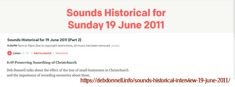 Sounds Historical Interview 19 June 2011